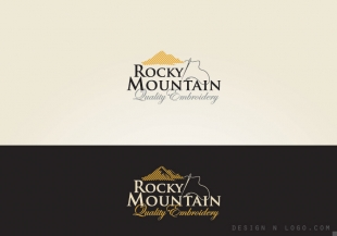 Rocky Mountain Quality Embroidery logo design