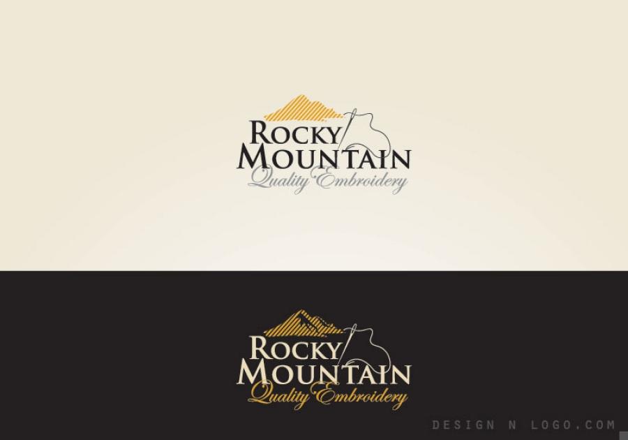 Rocky Mountain Quality Embroidery Logo Design