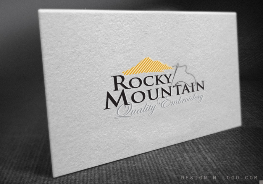 Rocky mountain quality embroidery business card colourmoves
