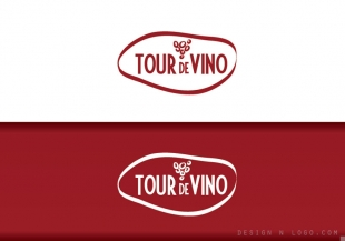 Tour de Vino logo design
